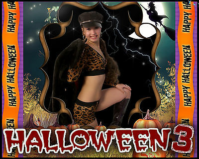 H3 Halloween Digital Backgrounds Backdrops props Frames Fall Invitation Fairy