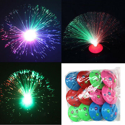 Gift Color Changing LED Fiber Optic Night Light Lamp Colorful Stand Home Decor