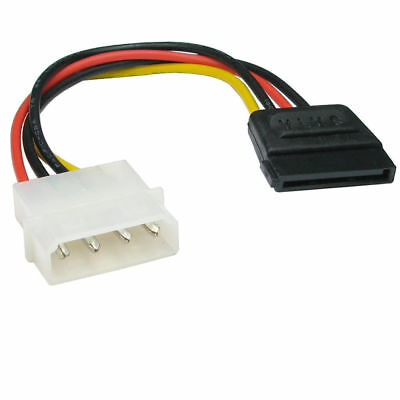 4 pin Molex to 15 pin SATA Power Cable Adapter Convertor Lead 10cm