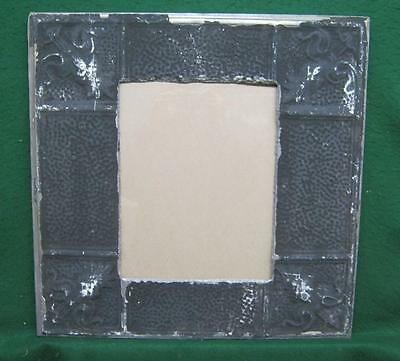 Antique TIN CEILING Metal 11 x 14 Black Picture Frame Recycled 2780-14