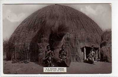 (Lv449-388) Real Photo of Zulu Kaffir Hut, South Africa c1920 Unused VG+