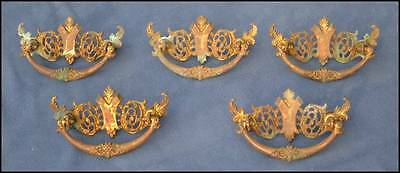 Brass Drawer Pulls Furniture Cabinet Hardware 5pcs
