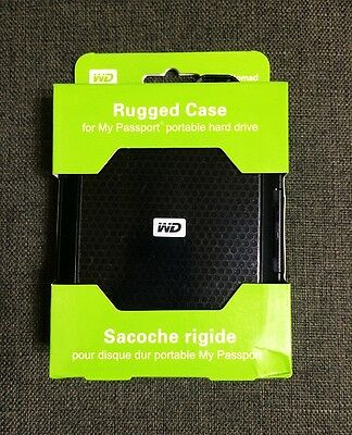 WD Nomad Rugged Case for My Passport External Hard Drive - Black