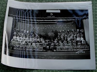 Nice Vintage Black and White School Orchestra Photo, 1954, VG CND