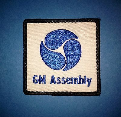Rare Vintage 1970's General Motors GM Assembly Center Car Club Jacket Hat Patch