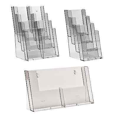 Multi Pocket Leaflet Holders Brochure Menu Flyer Tier Display Stands A4 A5 DL A6