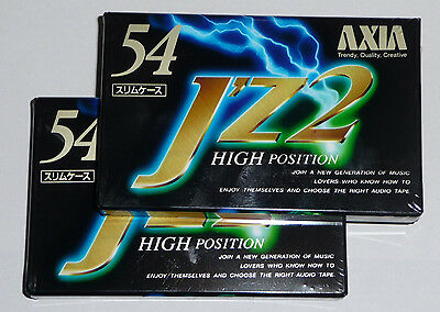 2 X AXIA JZ2 54 BLANK CASSETTE TAPES