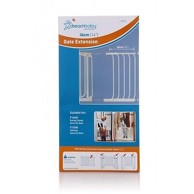 DREAMBABY STANDARD SAFETY GATE EXTENSION 36CM ** 75cm high - Black or White