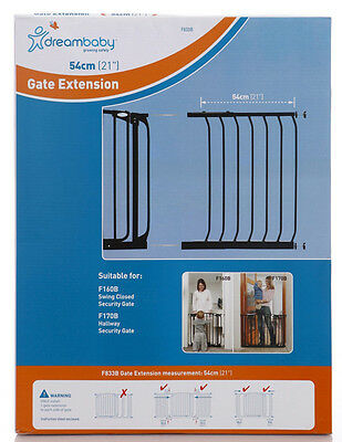 DREAMBABY STANDARD SAFETY GATE EXTENSION 54CM ** 75cm high * Black or White
