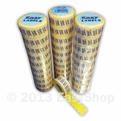 26 X 12mm Price Marking Gun Labels, CT4 Motex, Yellow With Permanent Adhesive