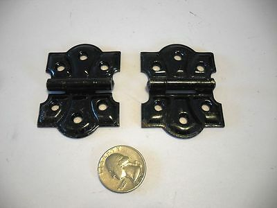 VINTAGE Black NOS Japanned BUTTERFLY HINGES Ornamental STANLEY SWEETHEART U.S.A.
