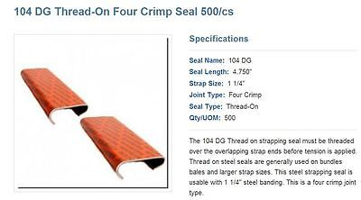 "104DG 1-1/4"" thread on seals for strapping"