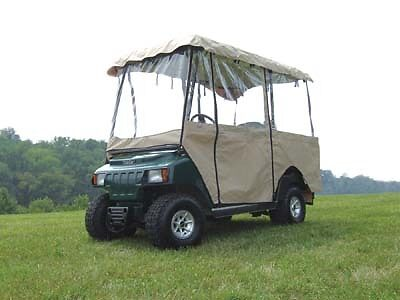 """Ez Go Club Car Yamaha Golf Cart Part Deluxe 4-Sided Enclosure With 80"""" Top"""