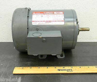 Dayton 2n103ba 1 2 hp electric motor 3 phase new for Dayton 1 3 hp electric motor
