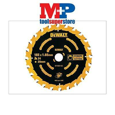 Dewalt Dt10624 Extreme Cordless Circular Saw Blade 165Mm X 20Mm 24 Tooth Dcs391