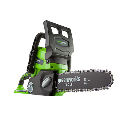 GreenWorks 24V Cordless Lithium-Ion 10 inch ChainSaw Tool Only 20272 New