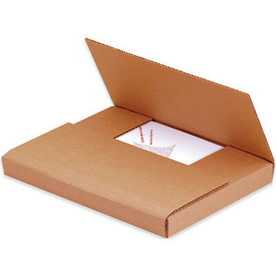 "Box Partners 9 1/2""x6 1/2""x2"" Kraft Easy-Fold Mailers"