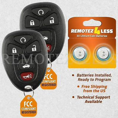 Replacement for Buick Chevy Pontiac Saturn Entry Remote Car Key Fob 5b Pair