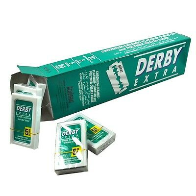 100 Blades Derby Extra Super Stainless Double Edge Razor Blades
