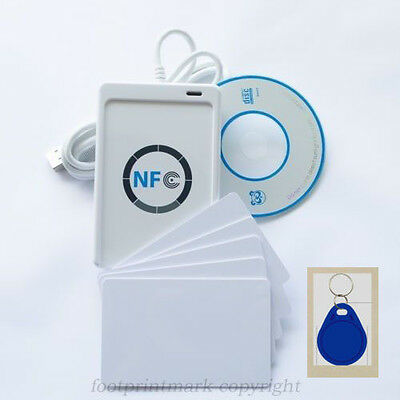 NFC ACR122U RFID Contactless smart Reader&Writer/USB+SDK+Mifare Cards+UID Fobs