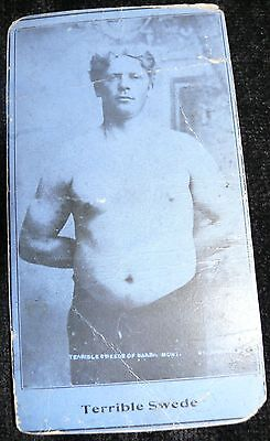 Rare Promo Wrestling Card Terrible Swede 1920'S Montana Wrestler Photo