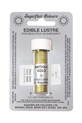 Sugarflair Edible Lustre Dust - ANTIQUE GOLD