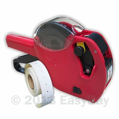 Motex CT1 22mm x 12mm Punch Hole Price Gun with 10 Roll Labels 6 Track Econoply