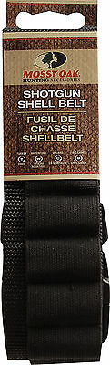 Mossy Oak Shotgun Shell Belt Black Holds 25 Fits Up To 52""