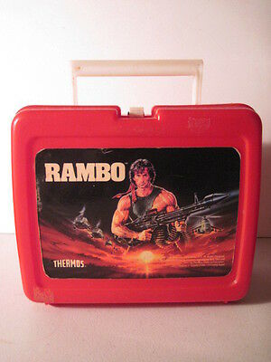 Rambo Plastic  Lunchbox, No Thermos! (Used) 1985. movie