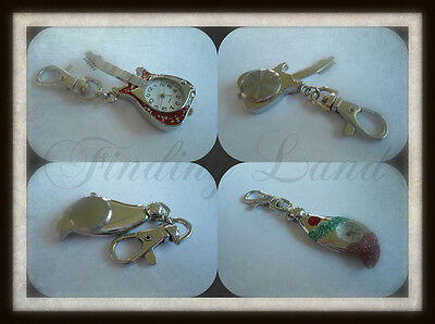 Sparkly Guitar/droplet just£3.99 Pendant Pocket Key Ring Chain Watch Quartz Gift