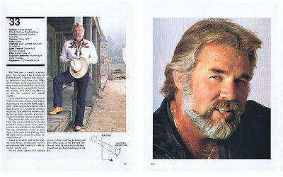 Singer and Actor Kenny Rogers  - Color Clipping, c1980's