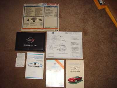 1989 Corvette Factory GM Original Owners Manual Set Complete w/Window Sticker