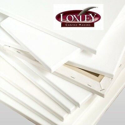 Loxley Ashgate Chunky Deep Edge Stretched Blank Artist Cotton Canvas Primed
