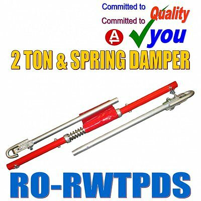 2 Tonne Recovery Tow Bar Towing Pole Spring Damper Ton Car Van 2 Ton 2000kg NEW