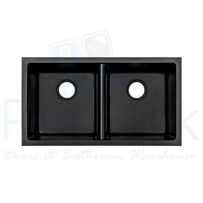 790x460mm Black Granite Composite Stone Kitchen Sink Top/Under Mount Bowl GS794