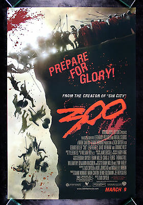 300 * CineMasterpieces ORIGINAL DS MOVIE POSTER 2006
