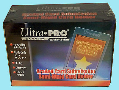 10 ULTRA PRO SEMI RIGID GRADED Card Holder NEW Sleeves PSA BGS Submission 43000