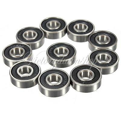 NEW 10Pcs 608-2RS 8x22x7mm Deep Groove Steel Sealed Ball Bearings Miniature