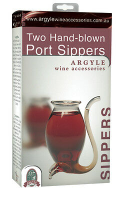 Port Sippers - Argyle Two Pack Set of Port Sippers