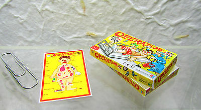 Dollhouse Miniature OPERATION  Game Box & Board  in 1:12 Scale