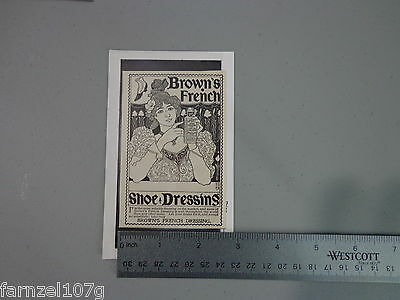 Vintage Brown's French shoe dressing ad