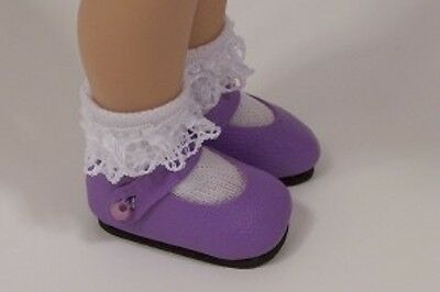 """Debs LAVENDER Metallic Basic Doll Shoes For Tonner 14/"""" Betsy McCall"""