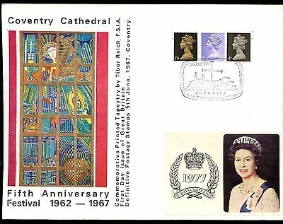 GB FDC 1967 Definitives Coventry Cathedral H/S Cover #C10912