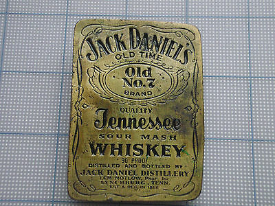Vintage Belt Buckle Jack Daniel's whiskey distillery Tennessee Old No.7 brass