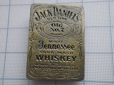 Vintage Belt Buckle Jack Daniel's whiskey distillery Tennessee Old No.7 brass #2