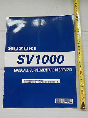 Supplemento Manuale Officina Suzuki Sv 1000 Manual Repair