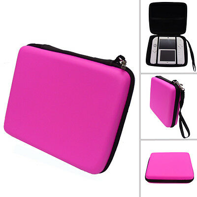 PINK Hard Protective Carry Storage Case Cover With Zip for Nintendo 2DS + Games