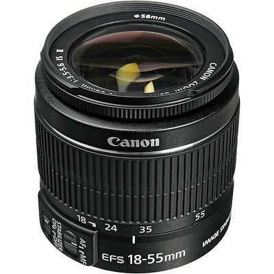 Canon EF-S 18-55mm f/3.5-5.6 IS II Autofocus Zoom Super Wide Angle Lens