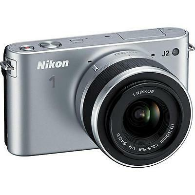 Nikon 1 J2 Mirrorless Digital Camera with 10-30mm VR Zoom Lens (Silver)  New