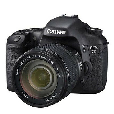 Canon EOS 7D SLR Digital Camera with EF-S 15-85mm f/3.5-5.6 IS USM Lens New